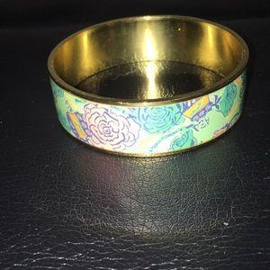 Lilly Pulitzer Floral Gold-toned Metal Bracelet